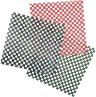 BASKET LINER 12X12 DRY WAX SHEETS RED CHECK 2000 PER CASE