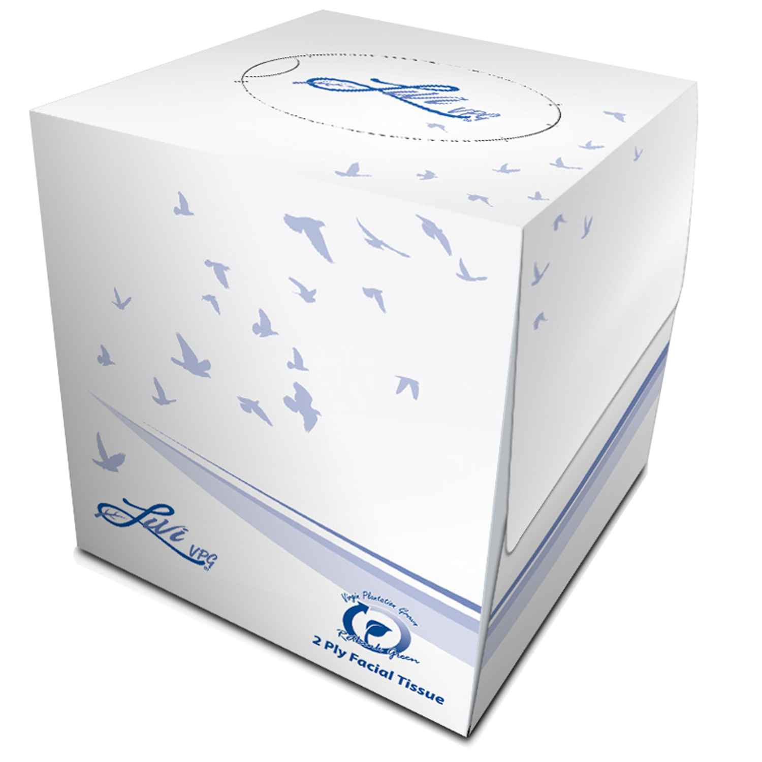 FACIAL TISSUE CUBE BOX 2-PLY 36 BOXES 90