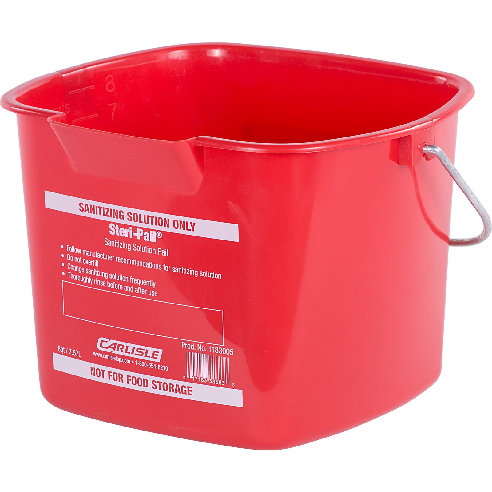 PAIL 8 QUART STANI RED