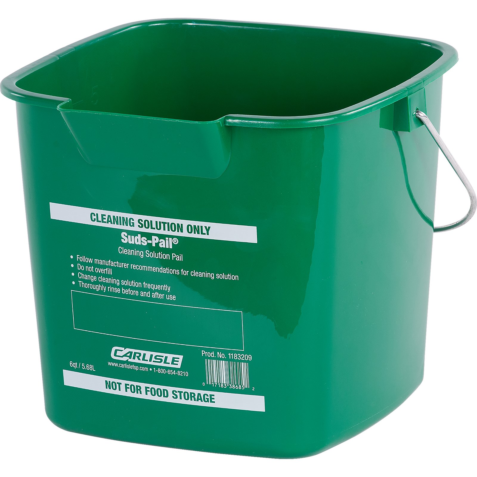 PAIL 6 QUART SUDS GREEN