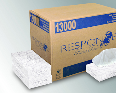 FACIAL TISSUE RESPONSE 2-PLY 30 BOXES OF 100