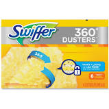 SWIFFER DUSTER 360 REFILL UNSCENTED 6 PER BOX (4 BOXES