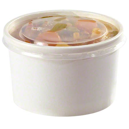 CONTAINER FOOD AND LID COMBO 16 OZ SQUAT SOUP WITH  PLASTIC