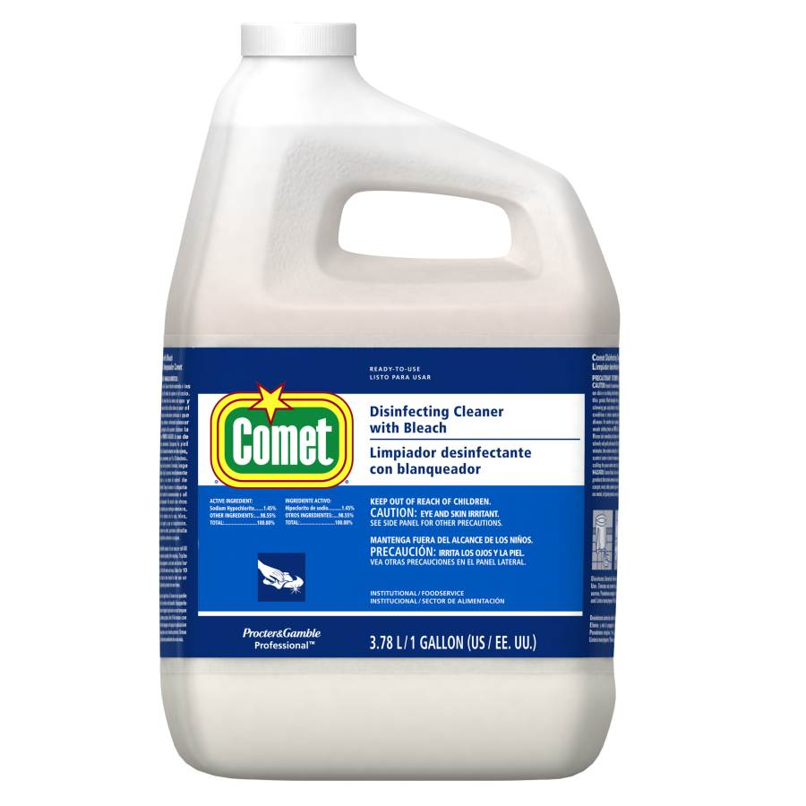 COMET DISINFECTANT CLEANER WITH BLEACH 1 GALLON (3 PER