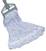 "WET MOP FINISHING 1"" HEAD BAND, 24 OZ BLUE/WHITE"