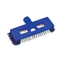 BRUSH FLOOR HEAVY DUTY SWIVEL  BLUE