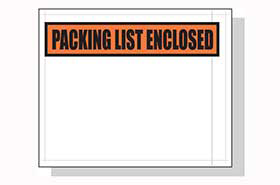 PACKING LIST ENCLOSED (TOP STRIP) 4.5 X 5.5 1000 PER CASE