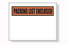 PACKING LIST ENCLOSED 5.5 X 7 1000 PER CASE