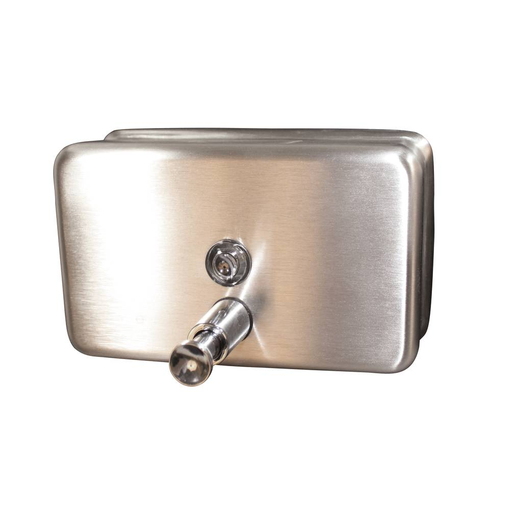 DISPENSER HAND SOAP CHROME HORIZONTAL