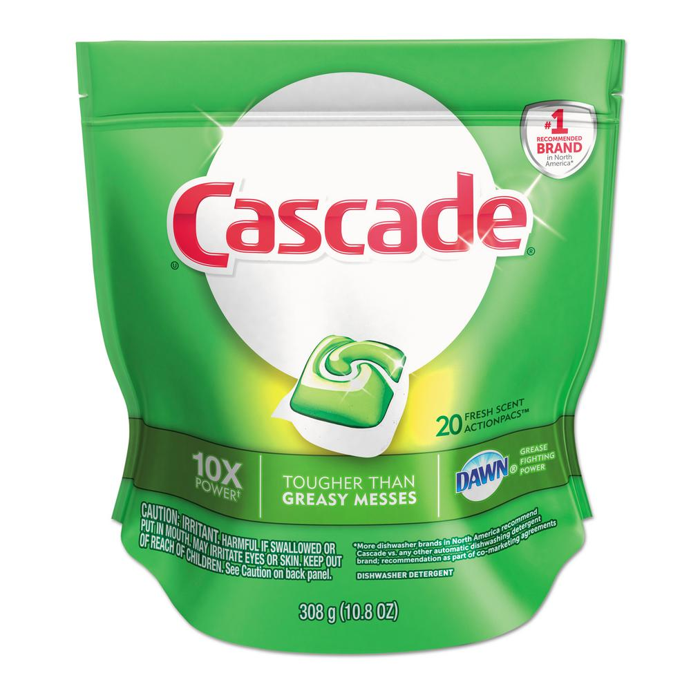 CASCADE ACTION DISHWASHER DETERGENT PACS 25 PER