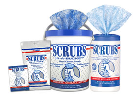 SCRUBS HAND CLEANING TOWELS - 30 PER CONTAINER (6 PER CASE)