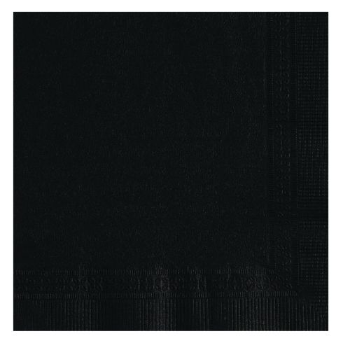 NAPKINS BEVERAGE 2 PLY 10 X 10 BLACK 1/4 FOLD 1000 PER