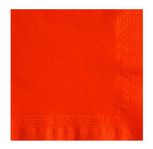 NAPKIN BEV ORANGE 2PLY 1/4 FOLD 10x10 5 / 200