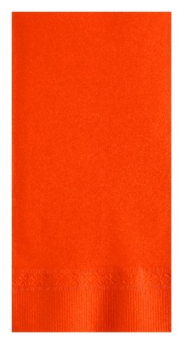 NAPKINS DINNER ORANGE 2PLY 1/8 FOLD 15x17 5 / 200