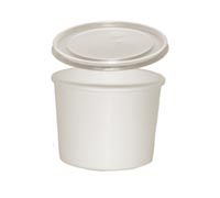 CONTAINER FOOD AND LID COMBO 12 OZ PAPER WHITE 250  PER