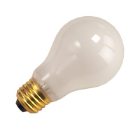 BULB A19FR100/RS 76015 100W A19 RS FROSTED 130V E26 HALCO