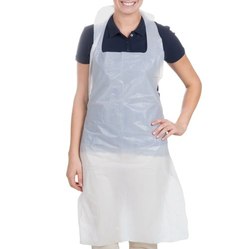 APRONS WHITE POLY 28 X 46 10 BOXES OF 100