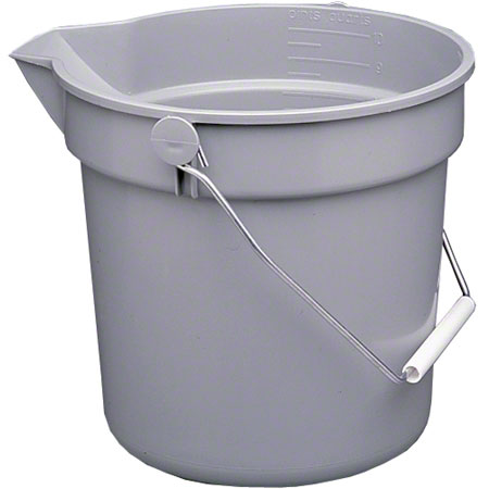 PAIL 14 QUART GREY WITH POUR SPOUT