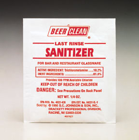 BEER CLEAN - LAST RINSE SANITIZER 100 PACKETS PER CASE