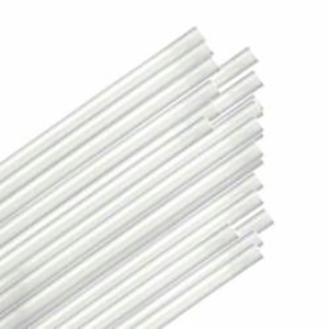 "STRAWS JUMBO 7.75"" UNWRAPPED CLEAR 12000 PER CASE E162004"