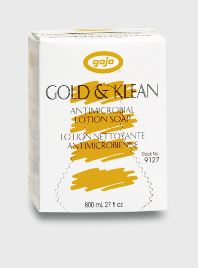 HAND SOAP GOJO ANTIMICROBIAL  GOLD & KLEEN ANTIMICROBIAL