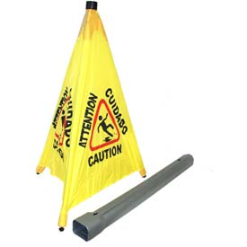 "SIGN IMPACT SAFTY CONE POP OUT 31"" YELLOW AND BLACK"