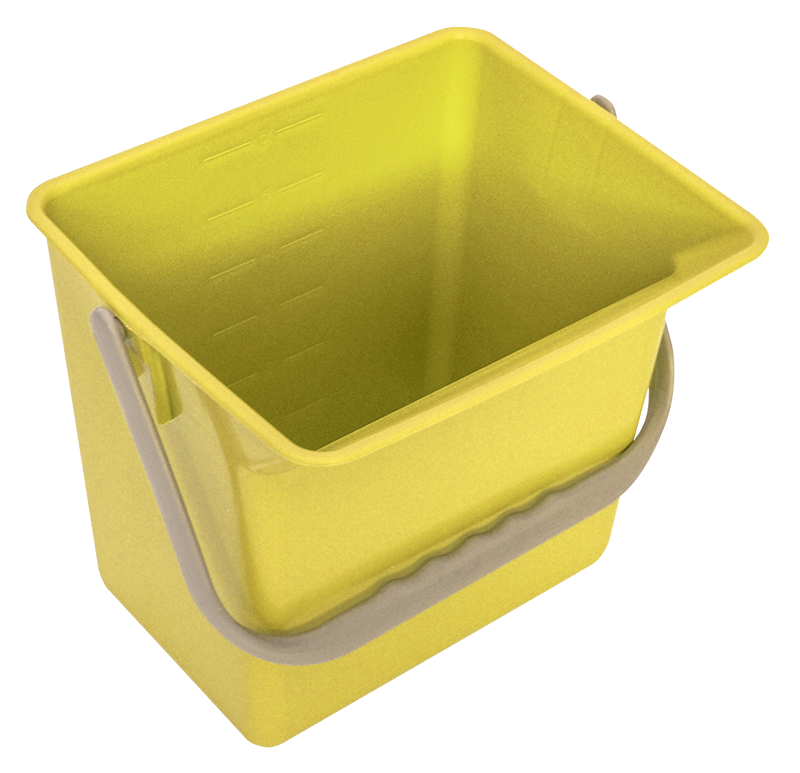 BUCKET 1.5 GALLON WITH CARRYING HANDLE, GRADUATED
