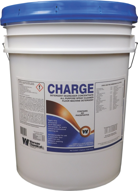 CHARGE DETERGENT DEGREASER CONCENTRATE RECOMMENDED FOR