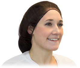 "HAIR NETS 24"" BROWN HEAVY WEIGHT POLY 100 PER BAG"