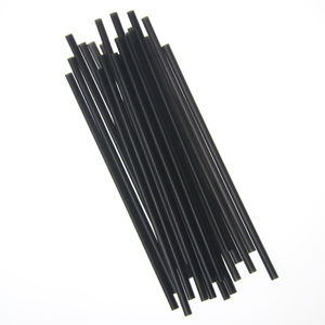 "STRAWS JUMBO 7.75"" UNWRAPPED BLACK 5000 PER CASE"
