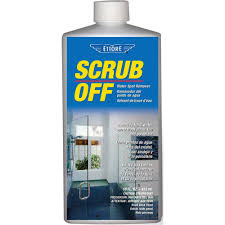 SCRUB OFF FOR WATER SPOTS, MINERAL DEPOSITS & RUST STAINS
