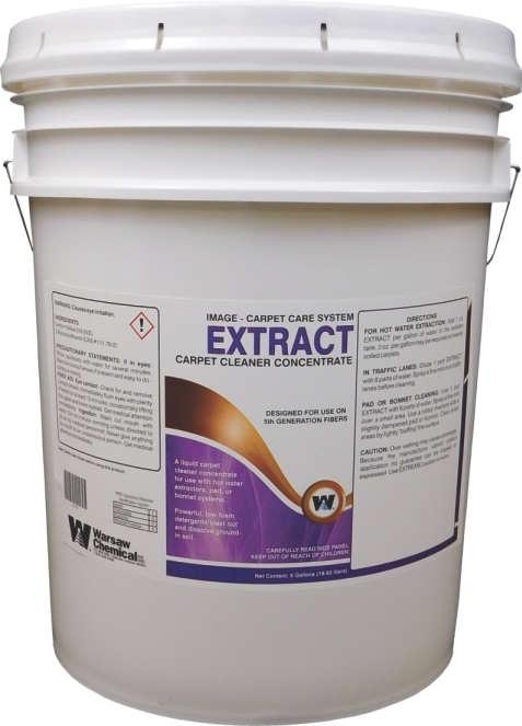 EXTRACT CARPET SHAMPOO - 5 GALLON PAIL