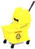 MOP BUCKET 35 QT YELLOW RUBERMAID WITH DOWN WRINGER