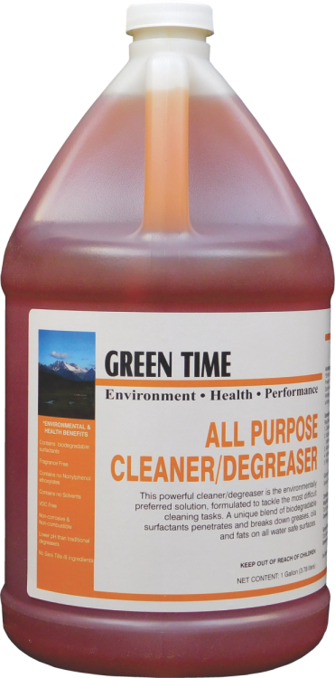 GREEN TIME ALL PURPOSE CLEANER DEGREASER (4 GALLON