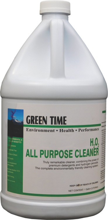GREEN TIME H2O2 CITRUS ALL PURPOSE CLEANER (4 GALLON