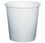 CONTAINER FOOD 16 OZ PAPER WHITE 500 PER CASE