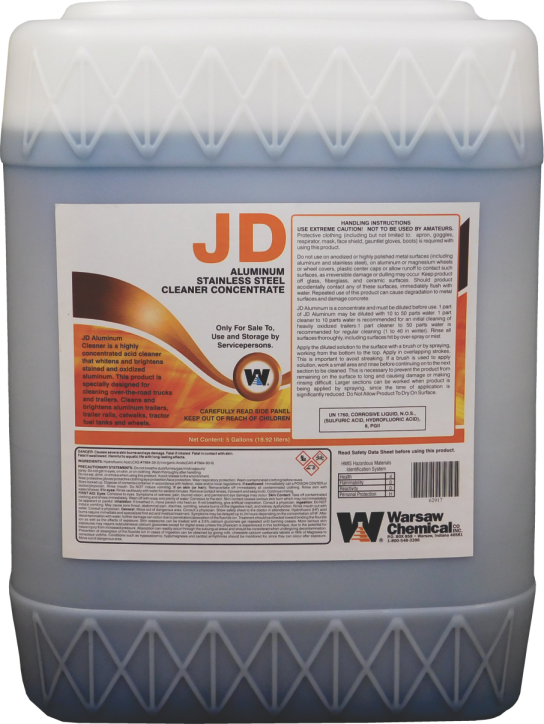 JD ALUMINUM CLEANER - 5 GAL PAIL