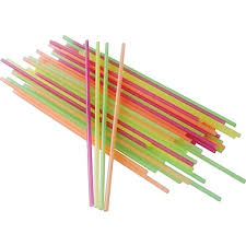 "STIRRERS 5.5"" ASSORTED NEON UNWRAPPED (10 BOXES OF 1000"