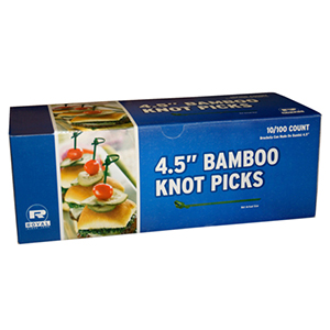 "PICKS BAMBOO KNOT 4.5"" 1000 PER CASE"