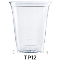 CUPS 12 OZ PLASTIC CLEAR ULTRA 1000 PER CASE