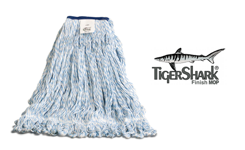 WET MOP FINISH MEDIUM BLUE STRIPPED (12 PER CASE)