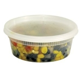 DELI CONTAINER AND LID COMBO 8 OZ CLEAR 240 PER CASE