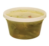 DELI CONTAINER AND LID COMBO 12 OZ CLEAR, PE, MICROWAVABLE