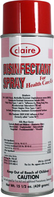 DISINFECTANT SPRAY FOR LEMON SCENT 15.5 OZ CAN (12