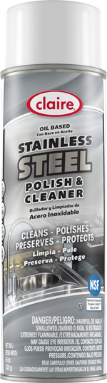 STAINLESS STEEL POLISH  & CLEANER 15 OZ CAN (12 CANS PER