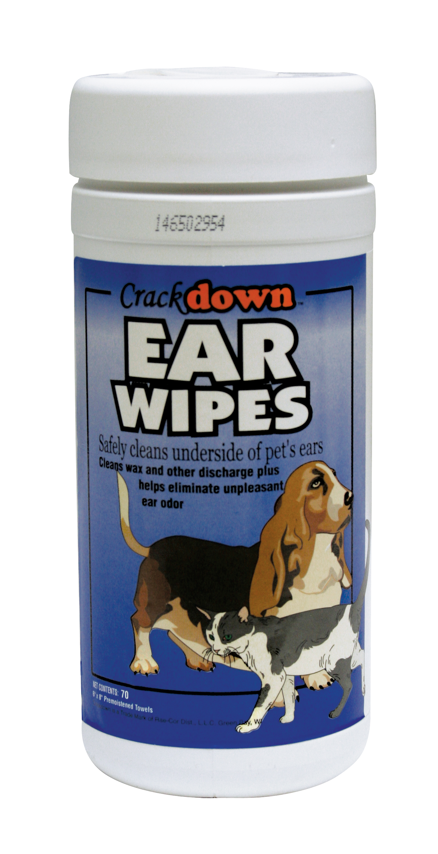 EAR WIPES - 70 COUNT CANISTER