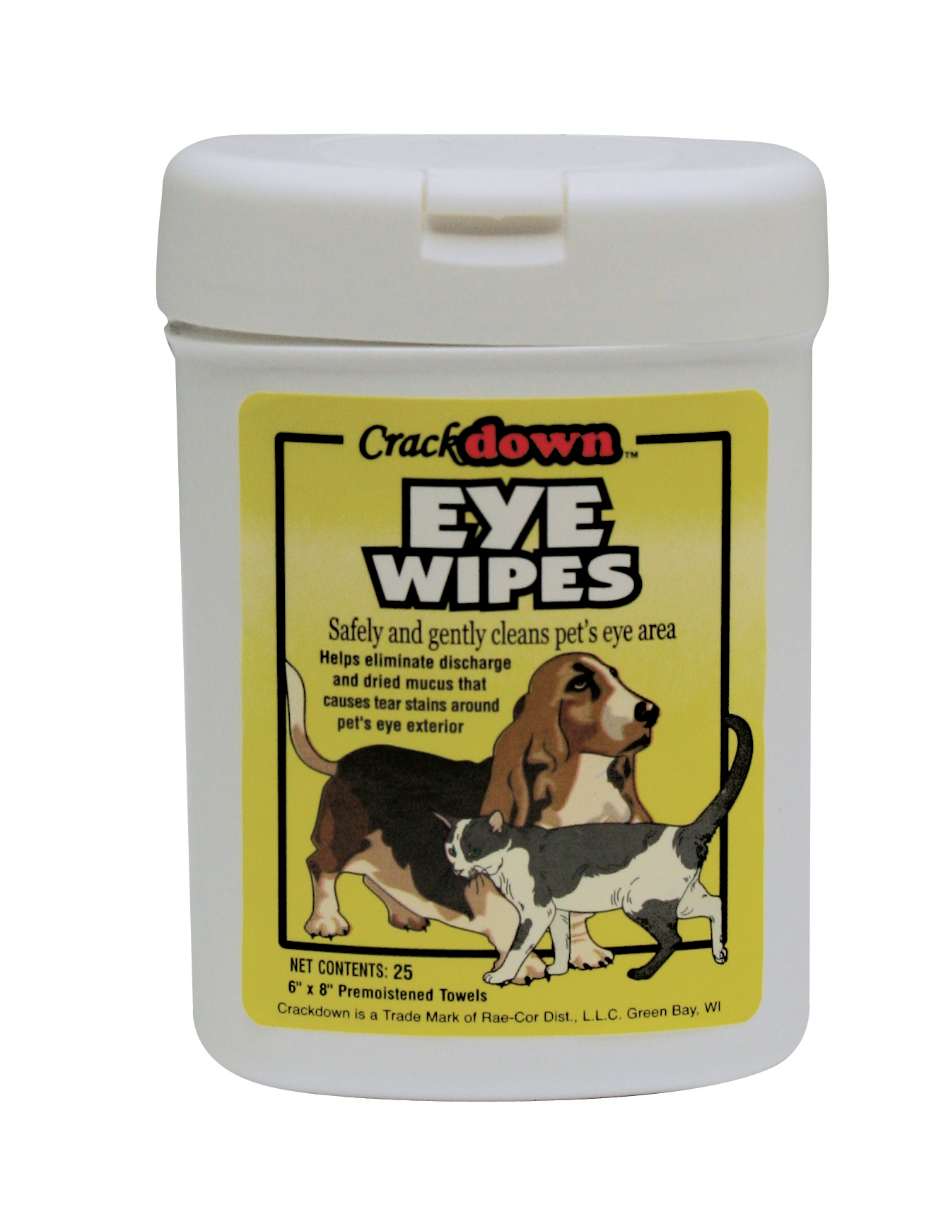 EYE WIPES - 25 COUNT CANISTER