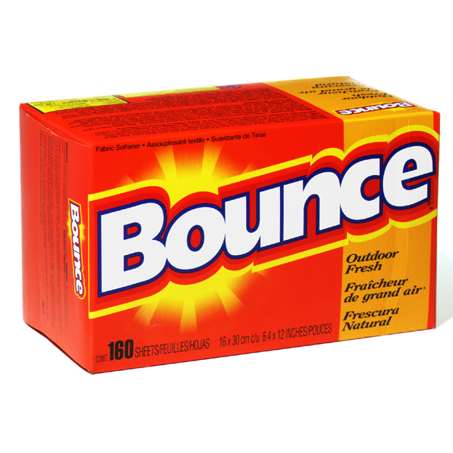 FABRIC SOFTENER BOUNCE 6 BOXES OF 160 SHEETS PER CASE