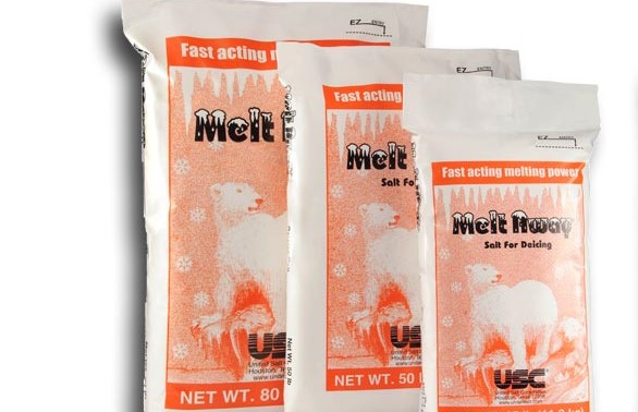 ICE MELT SALT - ROCK 50# BAGS (49 PER SKID)