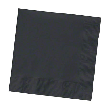 NAPKINS BEVERAGE 2 PLY 10 X 10 BLACK VELVET 600 PER CASE